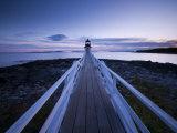 Maine, Port Clyde, Marshall Point Lighthouse, USA Papier Photo par Alan Copson