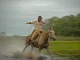 Traditional Pantanal Cowboys  Peao Pantaneiro  in Wetlands  Mato Grosso Do Sur Region  Brazil