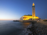 Hassan Ii Mosque in Casablanca, the Third Largest in World after Those at Mecca and Medina, Morocco Fotografisk tryk af Julian Love