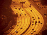 California, Los Angeles, Route 101 and Downtown, USA Photographic Print by Alan Copson