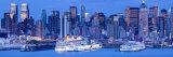 New York City, Manhattan, Panoramic View of Mid Town Manhattan across the Hudson River, USA Photographic Print by Gavin Hellier