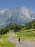 Cyclists, Grange Sous La Neige, Midi-Pyrenees, France Photographic Print by Doug Pearson