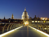 St Pauls Cathedral Seen across the Millennium Bridge Photographic Print by Julian Love