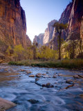 Utah, Zion National Park, the Narrows of North Fork Virgin River, USA Photographic Print by Alan Copson