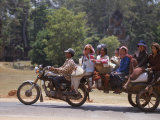 Motorcycle Bus, Cambodia Photographic Print by Mark Hannaford