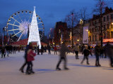 Christmas Market, Brussels, Belgium Photographic Print by Neil Farrin