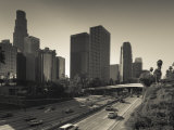 California, Los Angeles, Downtown and Rt, 110 Harbor Freeway, USA Photographic Print by Walter Bibikow