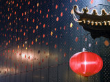 Beijing, Chinese New Year Spring Festival - Lantern Decorations on a Restaurant Front, China Photographic Print by Christian Kober