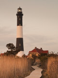 New York, Long Island, Fire Island, Robert Moses State Park, Fire Island Lighthouse, USA Lámina fotográfica por Walter Bibikow