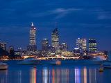 Skyline, Perth, Western Australia, Australia Fotodruck von Peter Adams