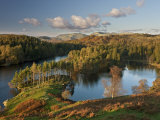 Autumn Colours at Tarn Hows Nearr Hawkshead, Lake District, Cumbria, England Photographic Print by Gavin Hellier
