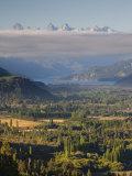 Rio Negro Province, Lake District, Rio Azul River Valley from Cabeza Del Indio, Argentina Photographic Print by Walter Bibikow