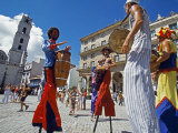 Los Zancudos, Stilt Dancers in Old Havana World Heritage Area, Cuba Photographic Print by Mark Hannaford