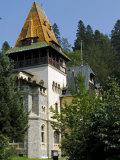 Transylvania, Sinaia, the Tower of Pelisor Castle, Romania Photographic Print by Nick Laing