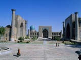 Registan Square, Built in 15th to 17th Century, Samarkand, Uzbekistan Photographic Print by Antonia Tozer