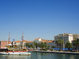 Split Waterfront Town Buildings and Harbour Sailing Ship Photographic Print by Christian Kober