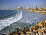 Beach and Tel Aviv from Jaffo Old Port, Israel Photographic Print by Michele Falzone