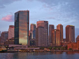Australia New South Wales, Circular Quay and Sydney Skyline at Sunrise Photographic Print by Nigel Pavitt