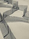 New York, Long Island, the Hamptons, Westhampton Beach, Beach Erosion Fence, USA Papier Photo par Walter Bibikow