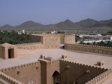 Interior Courtyard and a Watchtower Within Al Hazm Castle, Oman Photographic Print by John Warburton-lee