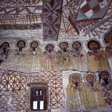 Fine Murals Decorate Interior of Rock-Hewn Church, Yohannes Maequddi, Gheralta Mountains, Ethiopia Fotografisk tryk af Nigel Pavitt