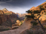 Utah, Zion National Park, from Canyon Overlook, USA Photographic Print by Alan Copson