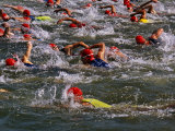 Swindon, Participants in a Triathalon Competition, Swindon, England, England Photographie par Paul Harris