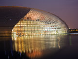 Beijing, the National Grand Theatre Opera House, China Photographic Print by Christian Kober