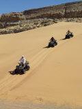 Tourists Set Out on Quad Bikes to Explore Magnificent Desert Scenery of Hartmann's Valley, Nambia Reprodukcja zdjęcia autor Nigel Pavitt