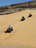 Tourists Set Out on Quad Bikes to Explore Magnificent Desert Scenery of Hartmann&#39;s Valley, Nambia Photographic Print by Nigel Pavitt