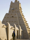 Timbuktu, the Sankore Mosque at Timbuktu Which Was Built in the 14th Century, Mali Fotografisk tryk af Nigel Pavitt