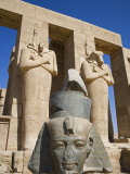 Headless Statues of Ramses Ii Line the Courtyard at the Entrance to the Ramesseum, Luxor, Egypt Photographic Print by Julian Love