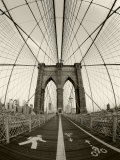 New York City, Manhattan, Brooklyn Bridge at Dawn, USA Fotografie-Druck von Gavin Hellier