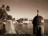 San Juan, Old Town, Paseo Del Morro and La Muralla, Puerto Rico Photographic Print by Michele Falzone