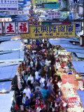 Hong Kong, Kowloon, Mongkok, Fa Yuen Street Market, China Fotografie-Druck von Peter Adams