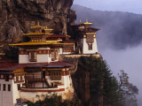 Literally Meaning Tiger's Nest, Taktsang, Built around Cave in Which Guru Padmasambava Meditated Photographic Print by Paul Harris
