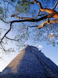 Magician's Pyramid, Uxmal, Yucatan State, Mexico Reproduction photographique par Paul Harris