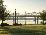 Alabama, Decatur, Rhodes Ferry Park, Steamboat Bill Memorial Bridge, USA Photographic Print by John Coletti