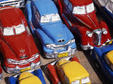 Handicraft Market and Classic Car Models for Sale in World Heritage Town of Trinidad, Eastern Cuba Photographic Print by Mark Hannaford