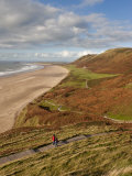 Wales, Glamorgan, Gower Peninsula, Rhossilli Bay, UK Photographic Print by Gavin Hellier