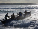 New South Wales, A Surfboat Crew Battles Through Waves at Cronulla Beach in Sydney, Australia Photographic Print by Andrew Watson