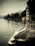 Lombardy, Lakes Region, Lake Como, Varenna, Villa Monastero, Gardens and Lakefront, Italy Fotografie-Druck von Walter Bibikow