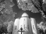 Infrared Image of Church of Assumption of Our Lady, Uspensky Convent, Staraya Ladoga, Russia Photographic Print by Nadia Isakova