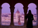 Hungarian Parliament Seen from Fishermans Bastion, Budapest, Hungary Photographic Print by Doug Pearson