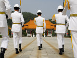 Taiwan Taipei Martyrs Shrine Changing of the Guards Ceremony Photographic Print by Christian Kober