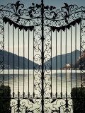 Ticino, Lake Lugano, Lugano, Parco Civico Gate Lake View, Switzerland Photographic Print by Walter Bibikow