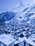 Zermatt, Valais, Switzerland Photographic Print by Walter Bibikow