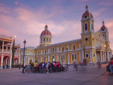 Granada, Park Colon, Park Central, Cathedral De Granada at Sunset, Nicaragua Photographic Print by Jane Sweeney
