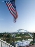 Alabama, Selma, Edmund Pettus Bridge, American Civil Rights Movement Landmark, Alabama River, USA Fotodruck von John Coletti