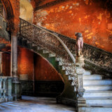 Staircase in the Old Building/ Entrance to La Guarida Restaurant, Havana, Cuba, Caribbean Impressão fotográfica por Nadia Isakova